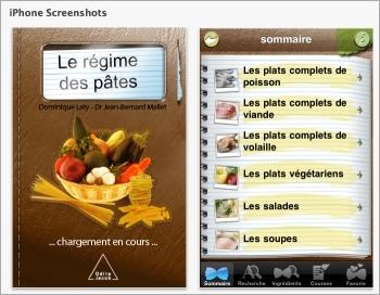 Régime des pâtes (Le) - Application IPhone